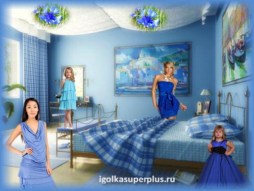 Голубой и синий цвет - цвета спокойствия