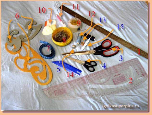 Инструменты и приспособления для шитья